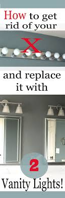 want to upgrade your hollywood light and replace it with two vanity lights this is bathroom bathbar lighting guru blog