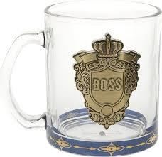 <b>Кружка Polystar Collection Boss</b>, 5020015, прозрачный, золотой ...