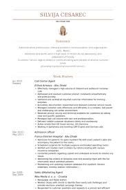 Call Center Agent Resume samples - VisualCV resume samples database