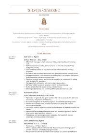 call center agent resume samples   visualcv resume samples databasecall center agent resume samples