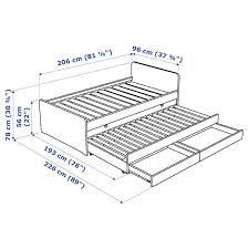 <b>СЛЭКТ Каркас</b> кровати с выдвижной кроватью, белый | Детали в ...