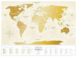 <b>Скретч</b>-<b>карта мира 1DEA</b>.<b>me</b> Travel Map Gold World RU