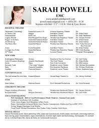 example of actor resume  tomorrowworld coresume theatre word copy resume for theatre theater acting resume template cv samples for theatre theatre resume   example of actor resume