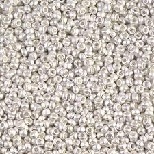Japanese Miyuki 11/0 <b>Seed Beads</b> RR-961F Matted Bright Sterling ...