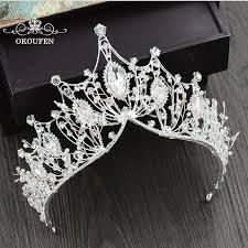 <b>Baroque</b> Big Tiaras Luxury Diamond Rhinestone <b>Crowns Headwear</b> ...