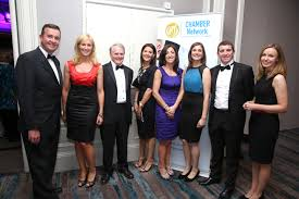 finalists in chambers csr awards  l r tom mcevoy pieta house from collins mcnicholas recruitment hr services group michelle murphy regional manager galway colman collins