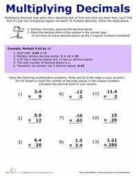 Decimals worksheets, Multiplying decimals and Decimal on PinterestWorksheets: How to Multiply Decimals