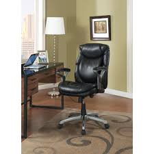 wellness by design eco friendly bonded leather mid back office chair in smooth black amazing home depot office chairs 4 modern