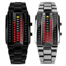 <b>Luxury Lovers</b>' <b>Wristwatch</b> Waterproof Stainless Steel Red Luminous ...