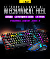 <b>T</b>-<b>WOLF TF200</b> GAMING OFFICE KEYBOARD M (end 1/8/2022 5:59 ...