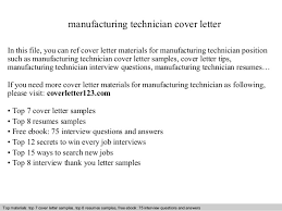 manufacturing technician cover letter in this file you can ref cover letter materials for manufacturing cover letter sample sample technology cover letter