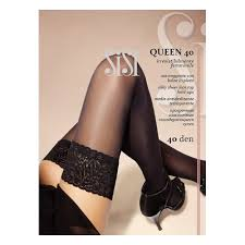 <b>Чулки</b> SISI <b>Queen 40</b> женские, цвет черный (nero), размер 4 ...