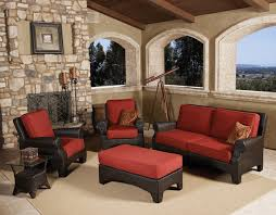 patio couch set  pc santa barbara outdoor wicker sofa set by sunset west traditional patio