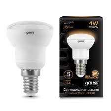Лампочка <b>106001104 Лампа Gauss</b> LED <b>Reflector</b> R39 E14 4W ...