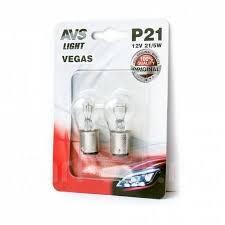 <b>Лампа AVS Vegas</b> в блистере 12V. <b>P21</b>/<b>5W</b> (BAY15D) (2 шт ...