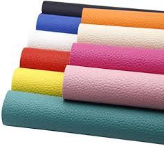 David Angie 10 Pcs Solid PU Synthetic <b>Leather</b> Faux <b>Litchi</b> Pattern ...