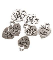 jewelry beads beads for jewelry making jo ann silvertone made love metal charms
