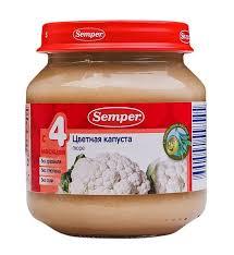 """<b>Semper</b> """"<b>Цветная капуста</b>"""" - обзор, отзывы об овощном <b>пюре</b> ..."""
