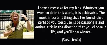 Yeah, I think it's an absolute disaster that Austr by Steve Irwin ...