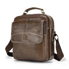 LAOSHIZI LUOSEN Vintage <b>Leather</b> Men Shoulder Bag Crossbag ...