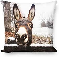 WEYON Throw <b>Pillow Covers</b> Modern Simple <b>Nordic Style</b> Donkey ...