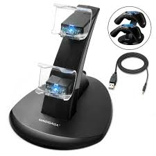 PS4 Controller Charger, <b>Dual USB Charging Docking</b> Station Stand ...