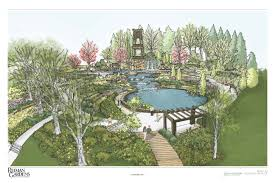 iowa state university foundation reiman gift kick starts a sycamore falls will feature several waterfalls cascading over native limestone walls flanked by sculptural terraces generous swaths of colorful