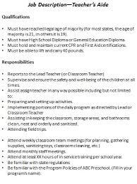 preschool job description resource templates teacher aides job description