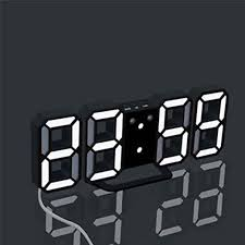 Clocks Multi-Function Large <b>3D LED Digital</b> Wall Clock Alarm ...