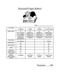 Research paper rubric  th grade