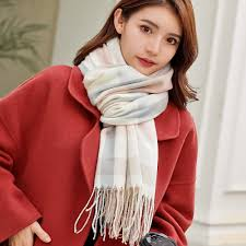 VEITHDIA 2019 Autumn Winter Female <b>Wool Plaid Scarf Women</b> ...
