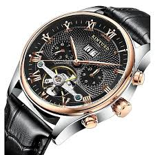 <b>KINYUED Men's</b> Skeleton Watch Wrist Watch <b>Mechanical</b> Watch ...