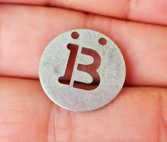 B - <b>1 Pcs</b> Antique Silver 20 mm <b>Round Letter</b> Necklace Findings - 2 ...