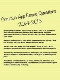Common Application   Common App Essay Questions               Pinterest