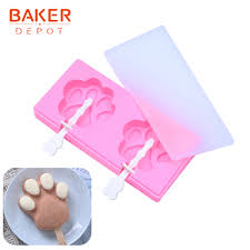 Cat claw Shape Food Grade <b>Silicone ice cream</b> mold Make Frozen ...