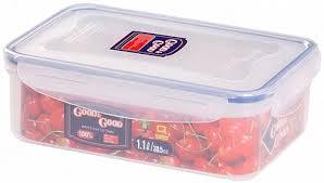Купить <b>Контейнер</b> пластиковый с <b>клипсами</b> 1,1 л, прямоугольный ...