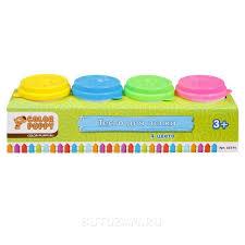 Купить <b>Тесто</b> для лепки <b>Color Puppy</b> 4 цвета 224 г