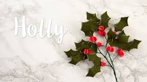 How to Make <b>Christmas Floral Holly</b> - Sizzix - YouTube