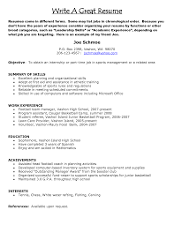 make a good resume tk category curriculum vitae