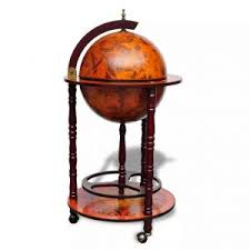 <b>Globe Bar Wine Stand</b> Wood | Man Sanctuary