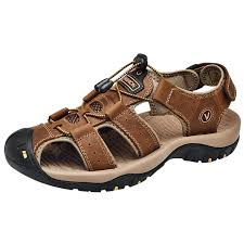 SENBAO <b>Men</b> Sandals Light Brown EU 37 Sandals Sale, Price ...