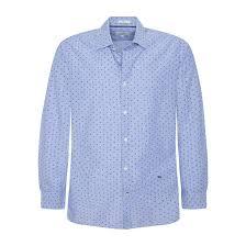 <b>Рубашка зауженная</b> в полоску с микро-принтом pierre синий ...