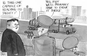 North Korea Nukes by Political Cartoonist Harry Harrison via Relatably.com