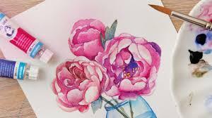 Урок <b>рисования цветы</b> акварелью Как научиться <b>рисовать</b> пионы ...