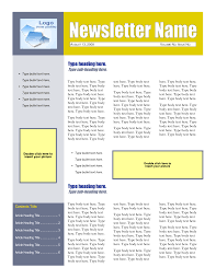 newsletter templates for word paralegal resume objective 8 best images of word newsletter templates microsoft 4 page newsletter template 26904
