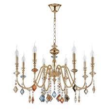 <b>Подвесная люстра Crystal Lux</b> MERCEDES SP8 GOLD/COLOR