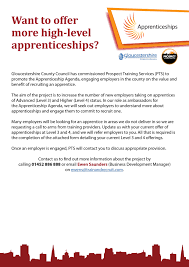 resources to support skills employment in gloucestershire want to offer more high level apprenticeships