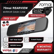 [ENG VER] Xiaomi <b>70mai Rearview Mirror Dash</b> Cam 1600P HD ...