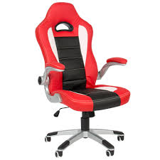 executive office chair pu leather racing style bucket desk seat chair red walmartcom bucket seat desk chair