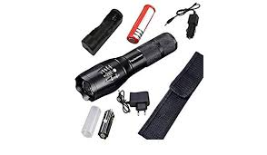 Pocketman Flashlight Zoomable 9000 Lumens High Power 5 Mode ...